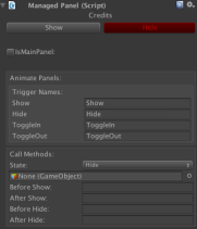 You also can use the Unity Animator to animatie your panels