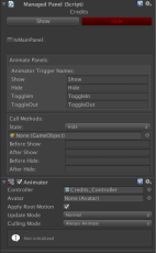 Animator with uGUI PanelManager