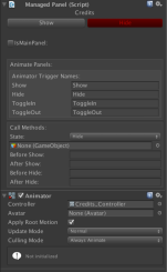Animator with uGUI PanelManager